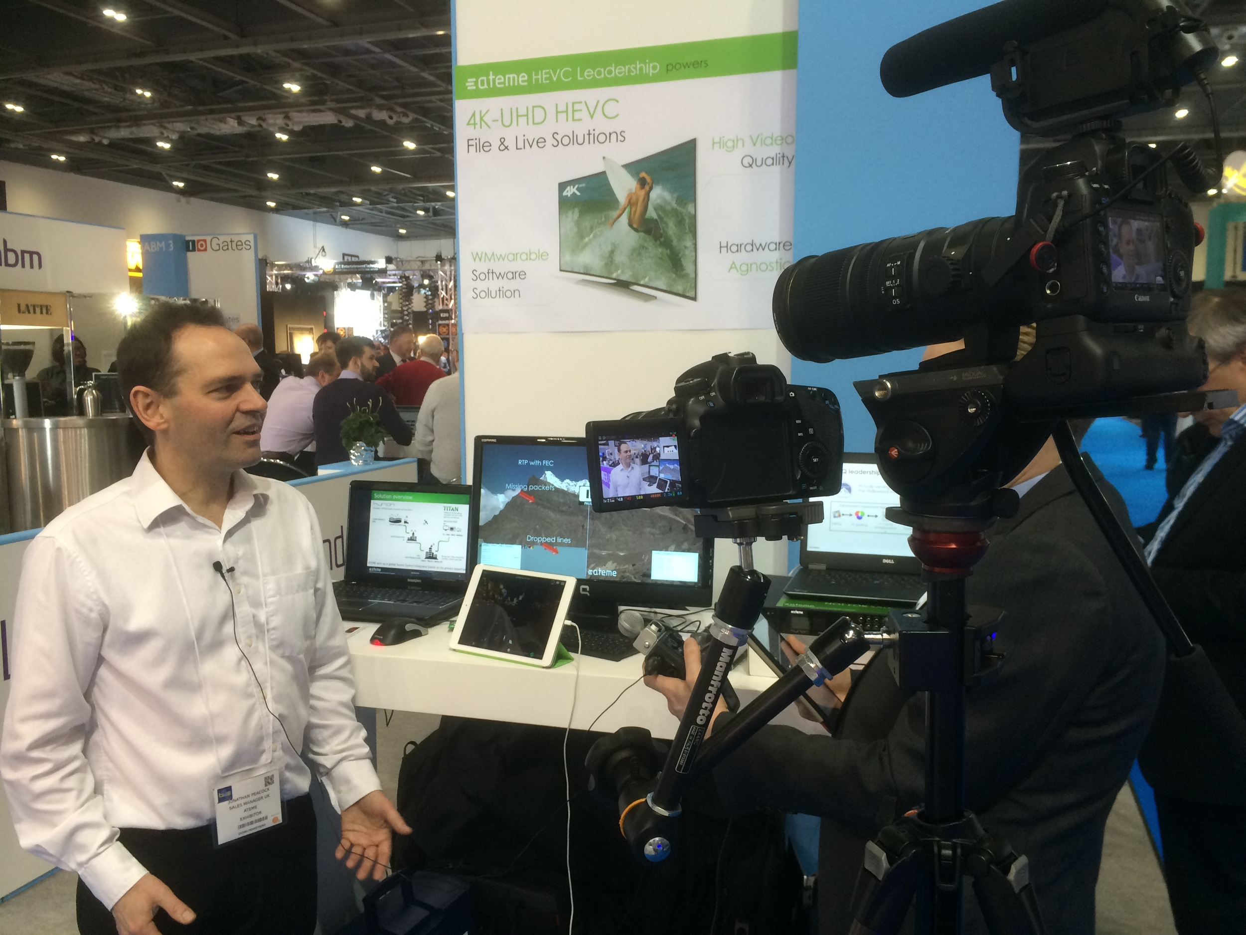 Jonathan from Ateme talks to IABM TV about their BVE show experience and benefits of being a member