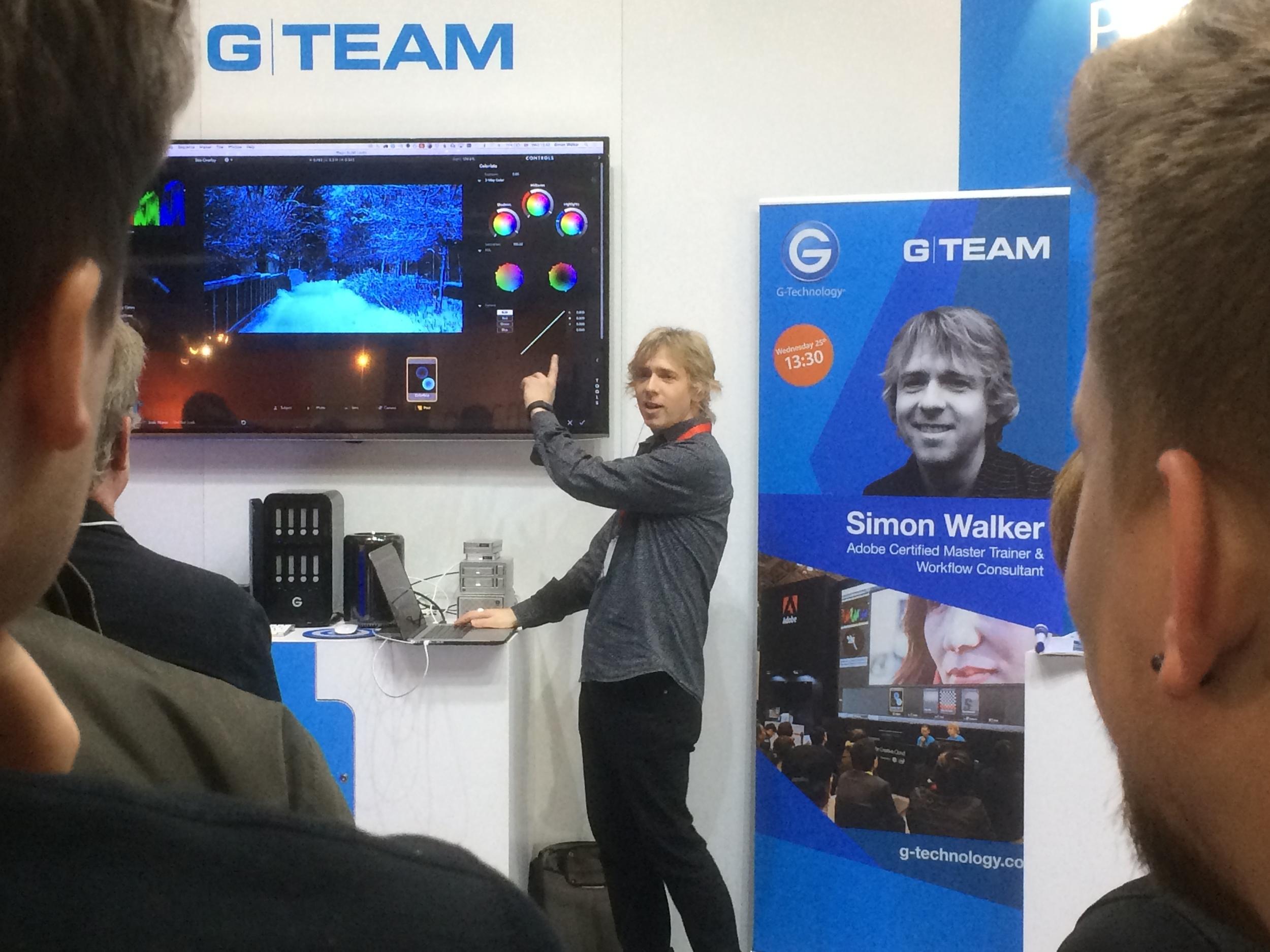 Simon Walker talking at G-Tech