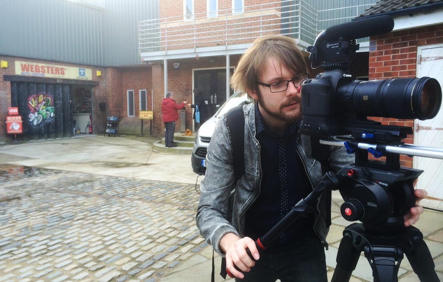 APV filming on Coronation Street for the IABM