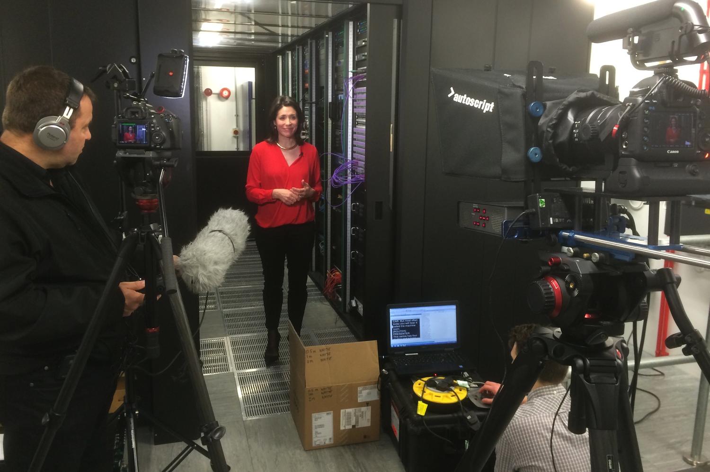 Adam Plowden Video filming in Coronation Street machine room