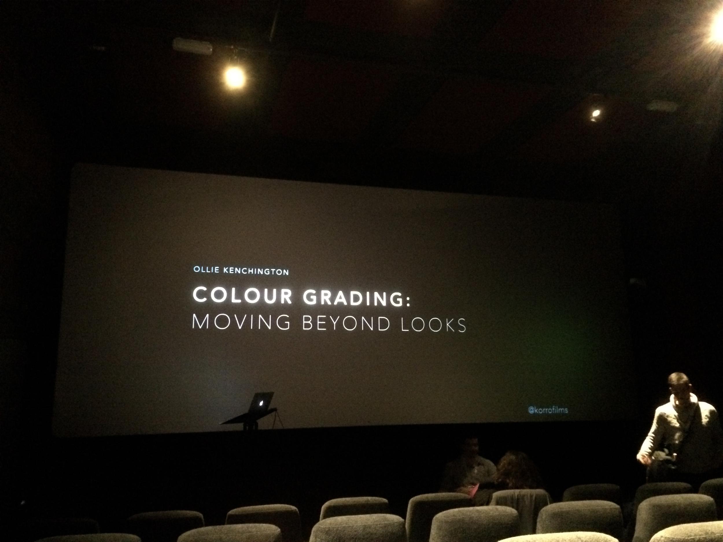 Ollie Kenchington Colour Grading presentation Shadows and Light