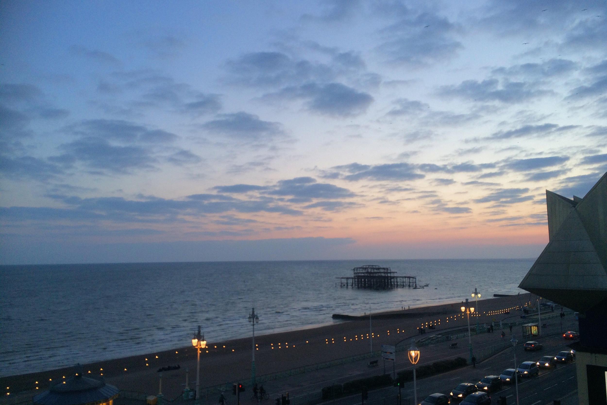 Brighton sunset Shadows and light