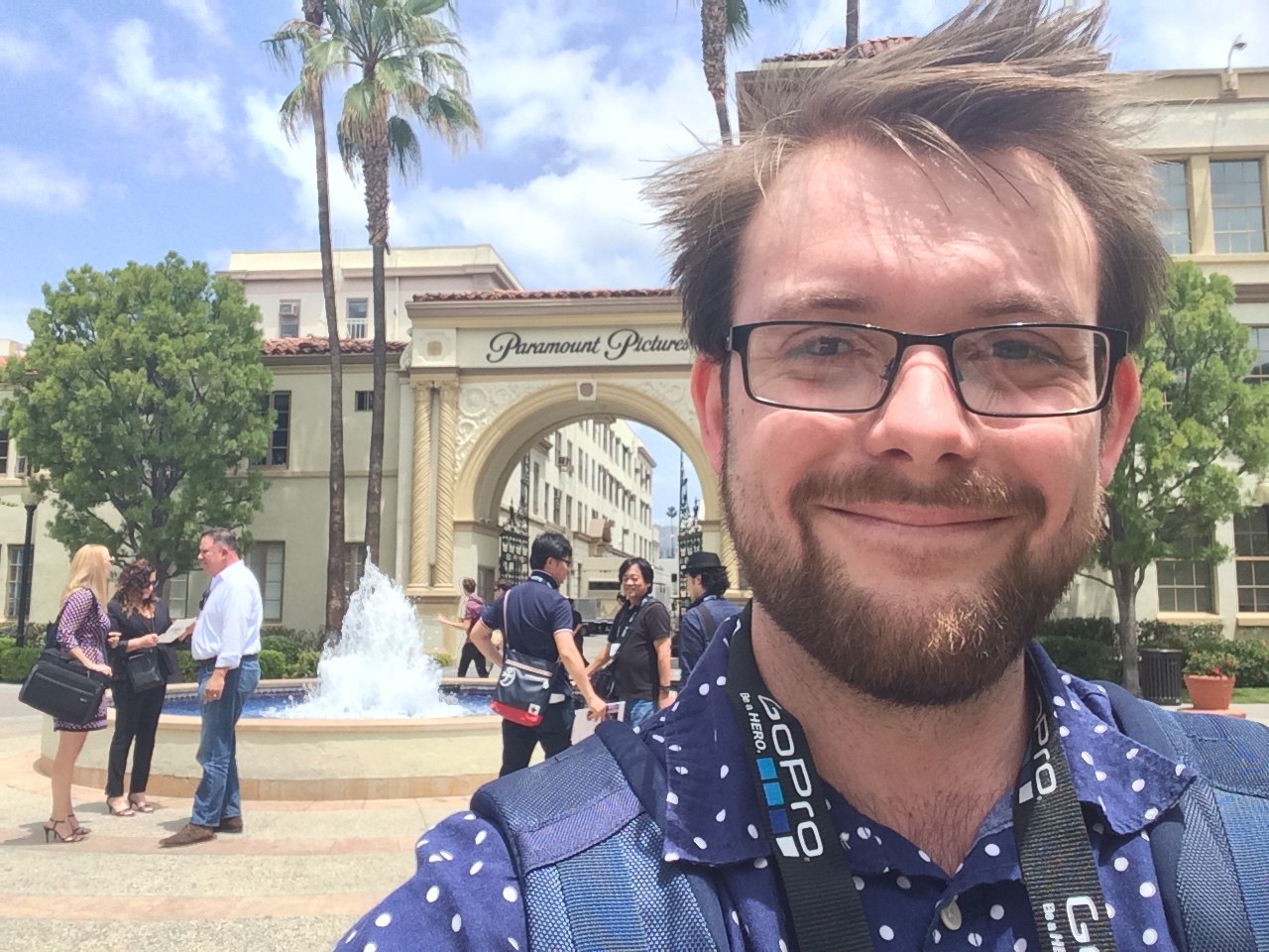 Adam in Paramount Pictures Backlot!