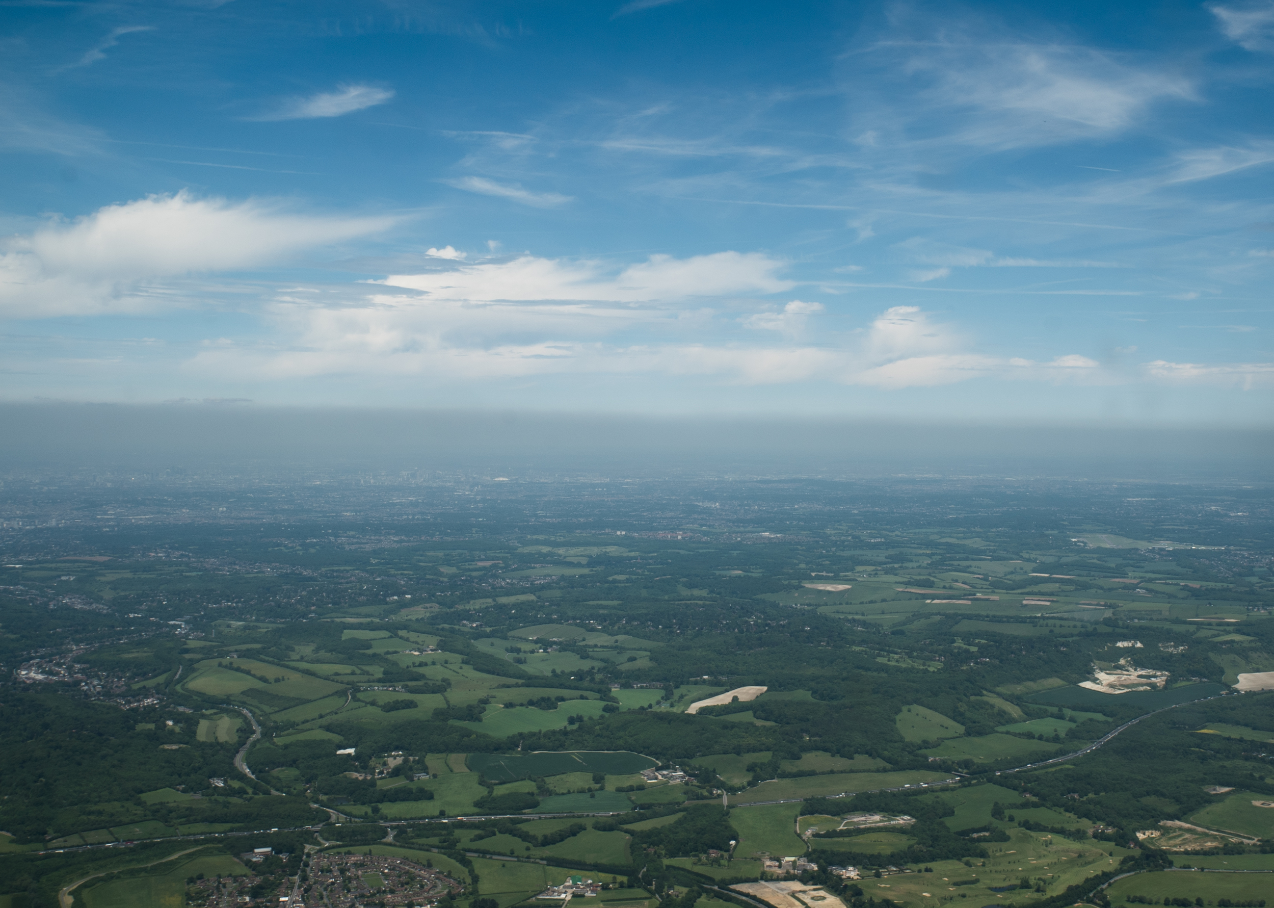 aerial photo over England