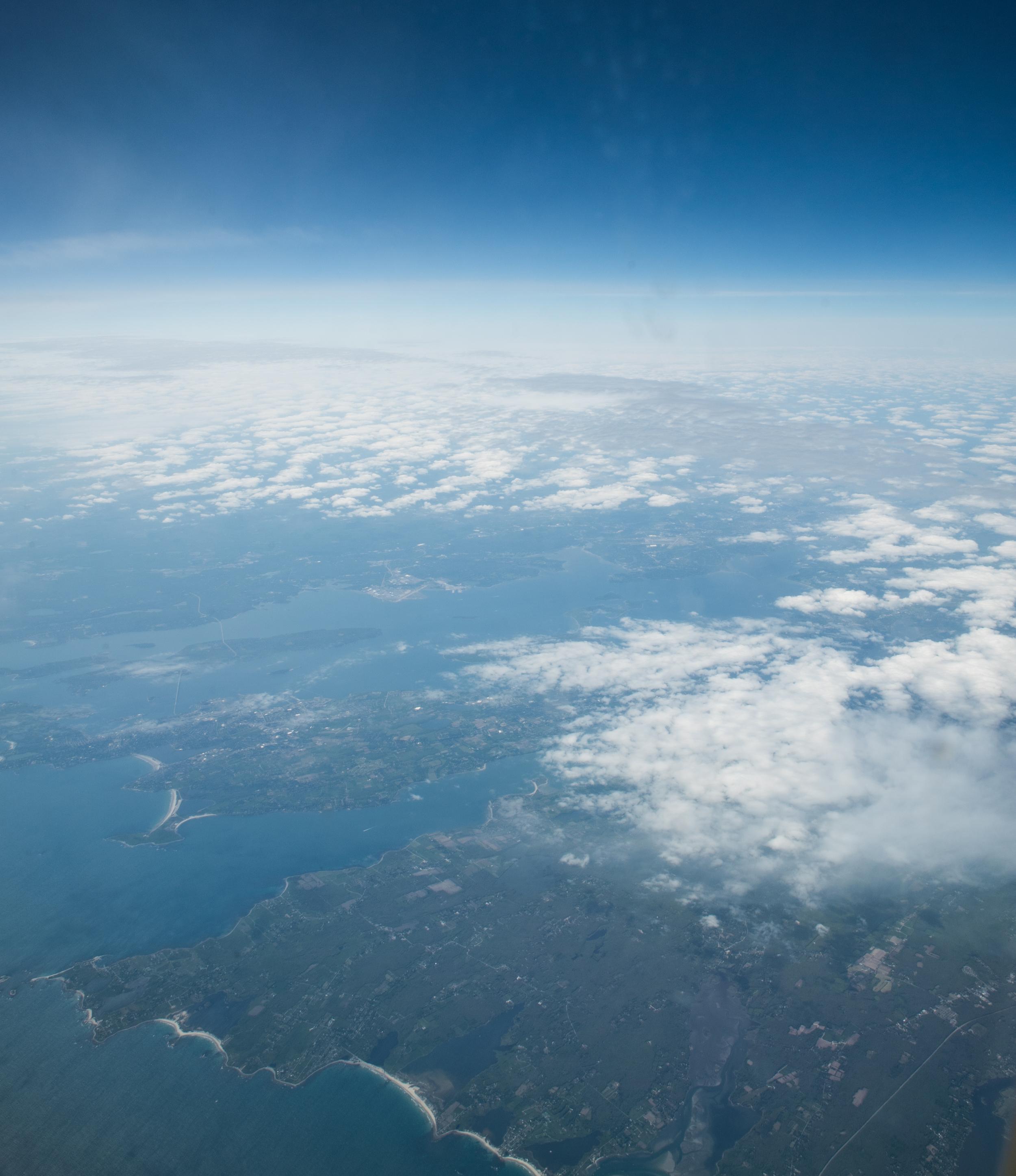 aerial photo over East Coast of Canada
