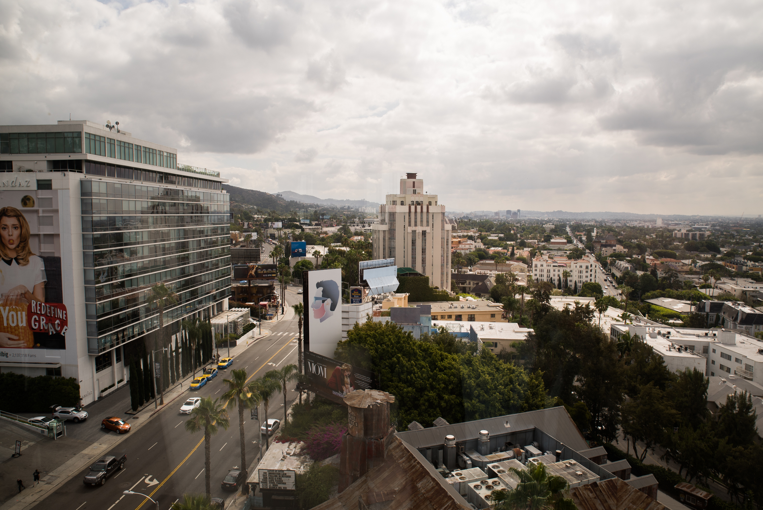 View from the Mondrian LA