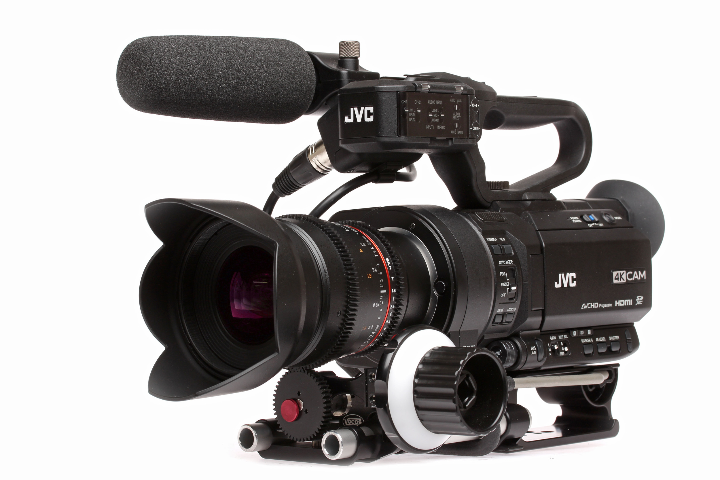 From JVC Pro with adapter and EF lens