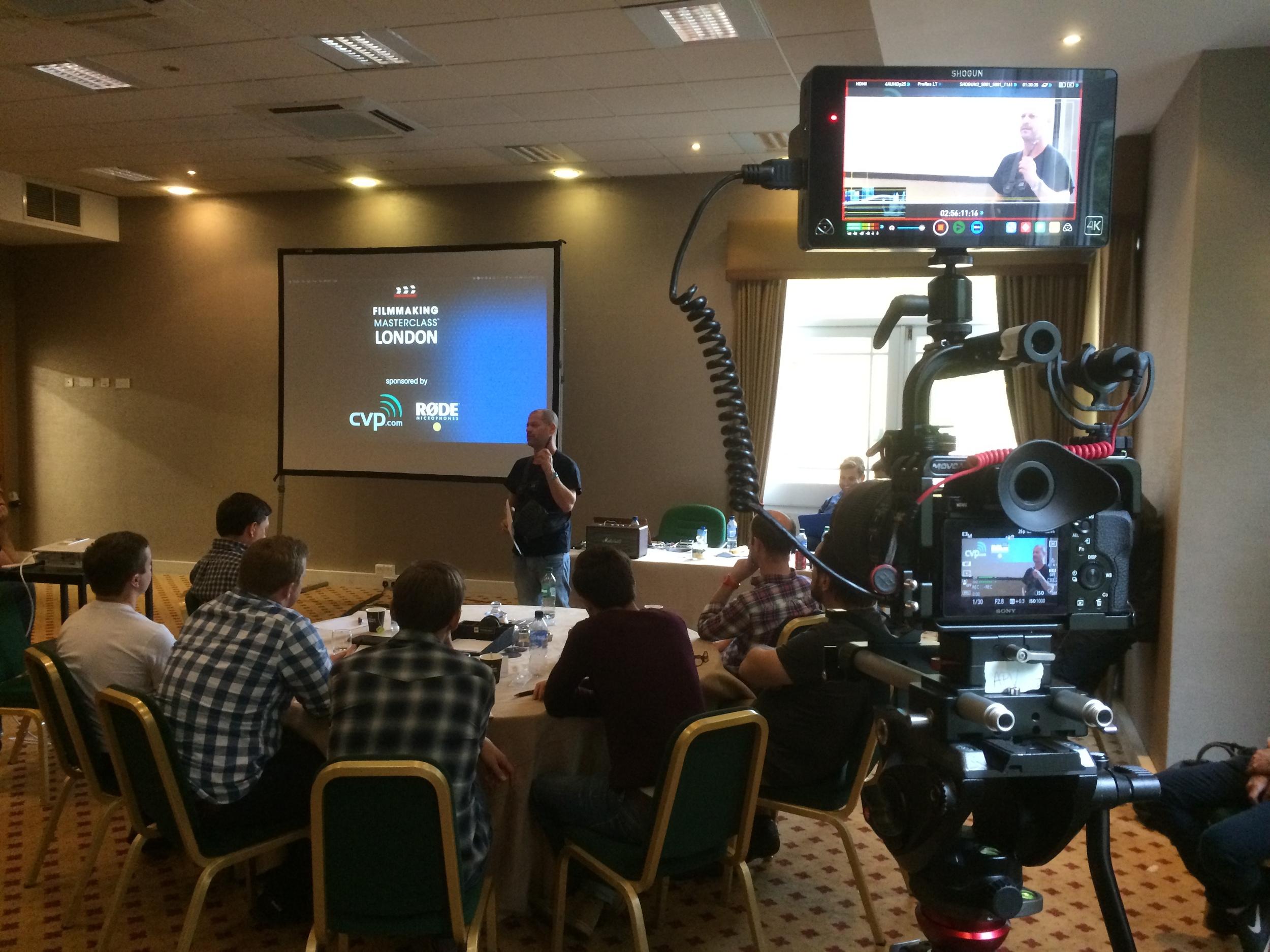 Adam Plowden Video at Filmmaking Masterclass