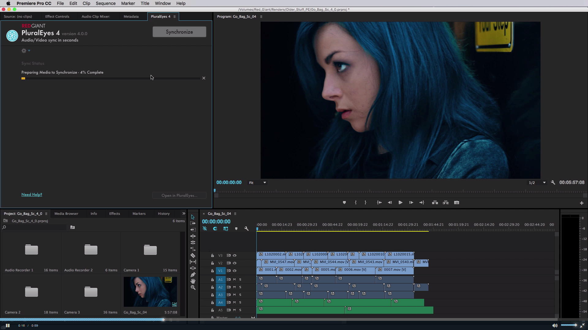 New PluralEyes extension in Premiere Pro CC