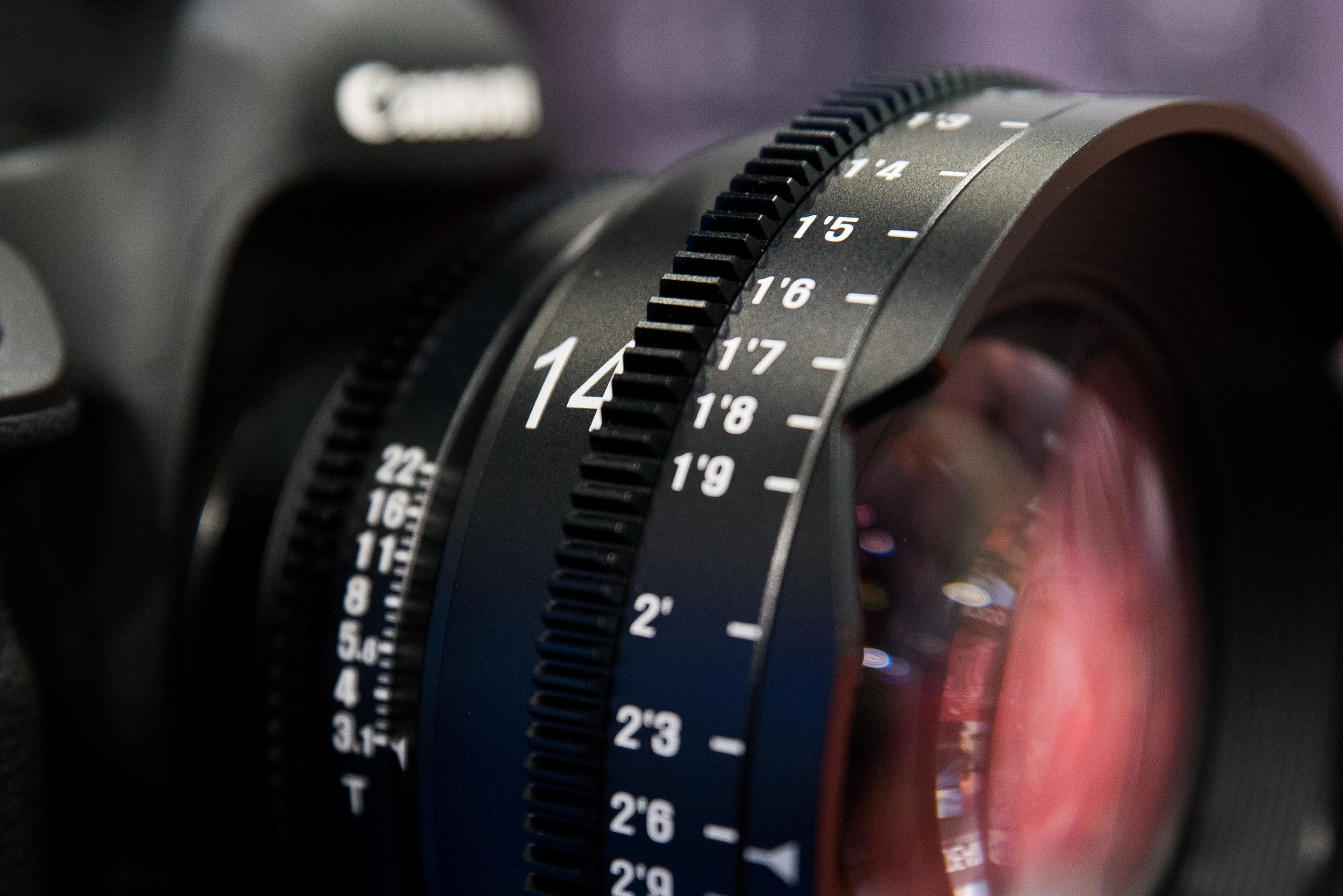 Samyang XEEN 35mm T/1.5 cine lens BVE 2016 Adam Plowden Video