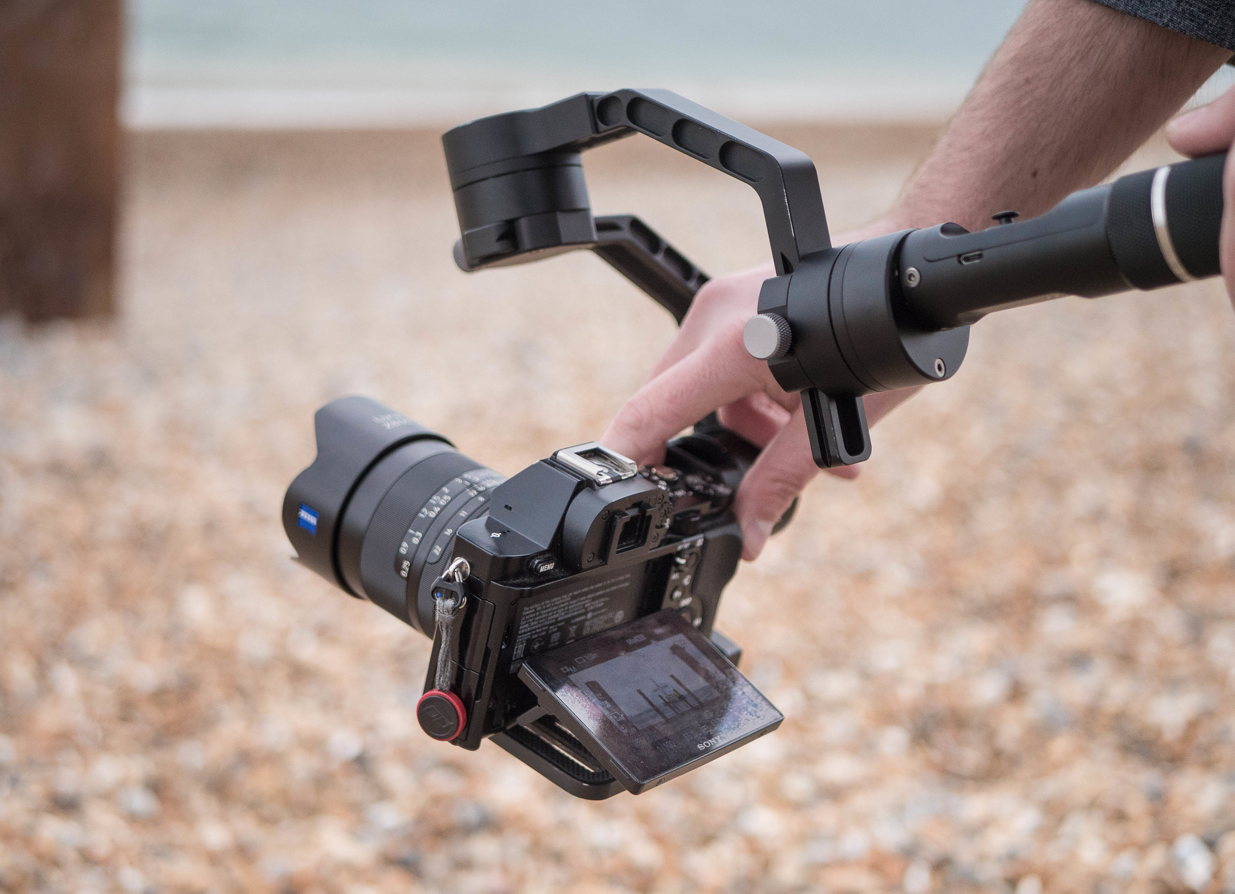 ZEISS Loxia 2.8/21 on the Sony a7S, Zhiyun Crane. Photo by Lucy McPhee