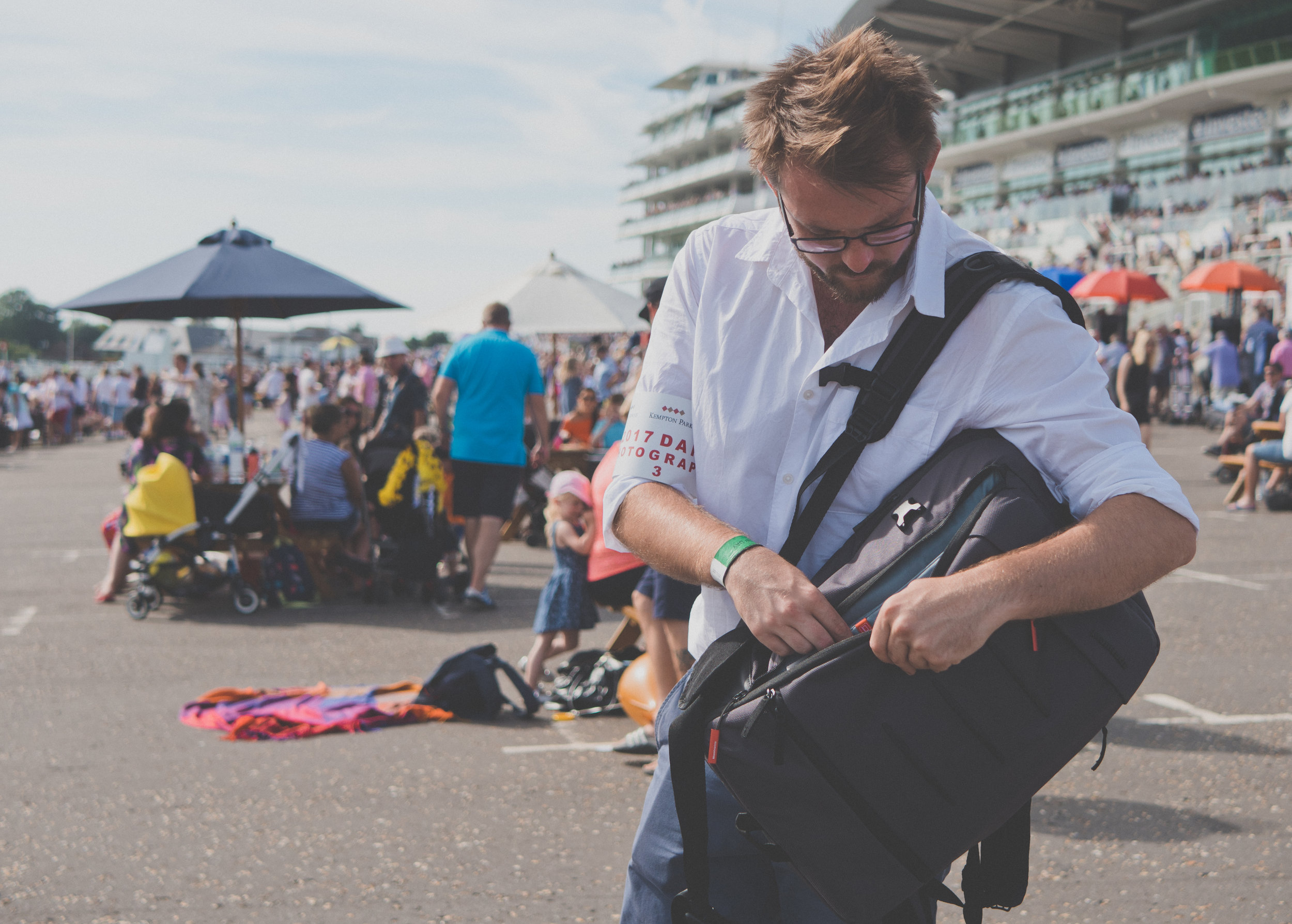 Manfrotto Manhattan Mover 50 Camera Backpack at Epsom Downs Racecourse