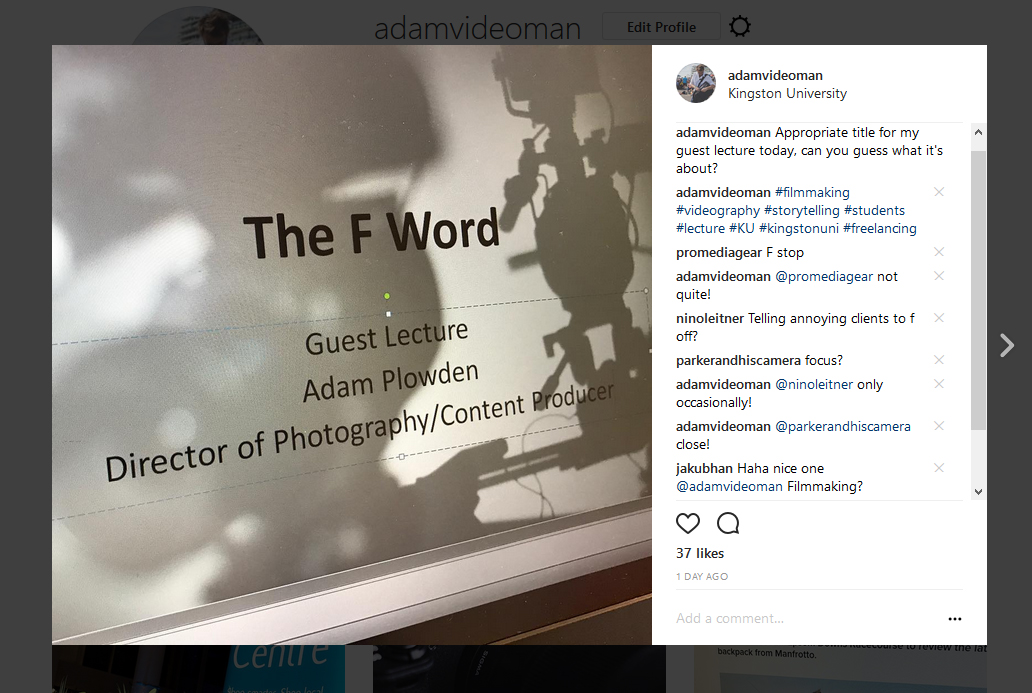 The F Word Creative Technologies Guest Lecture at Kingston University