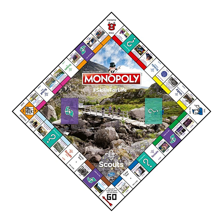 Scout monopoly board game