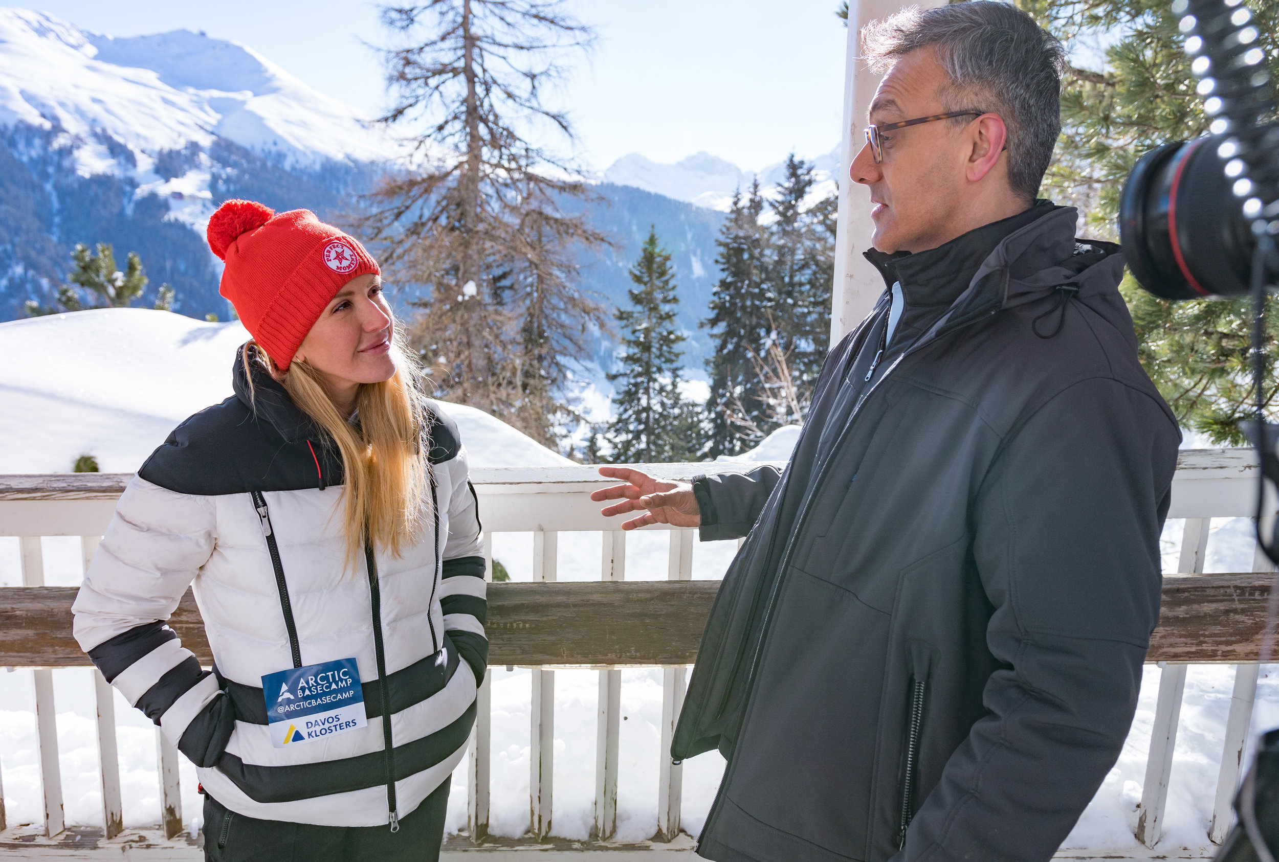 Filming with Ellie Goulding in Switzerland