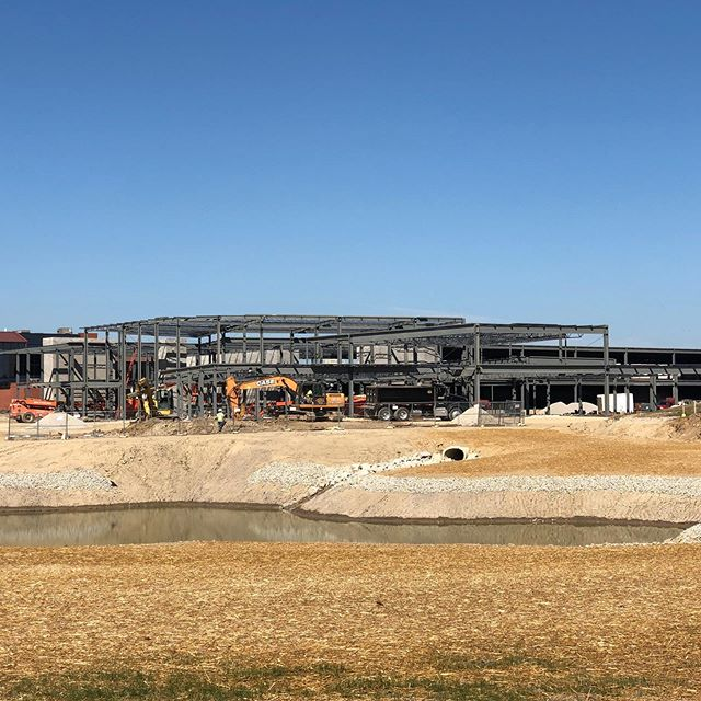 Crews moving quickly on the @midmarkcorp expansion project in #versaillesohio - the centerpiece of the 107,000 square feet expansion is the state-of-the-art center that will bring together #Midmark engineers, designers, and experts from across their company.