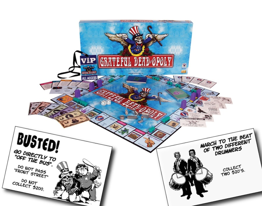 Board game writing for Grateful Dead-opoly