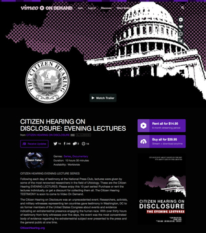 CITIZEN HEARING: THE EVENING LECTURES