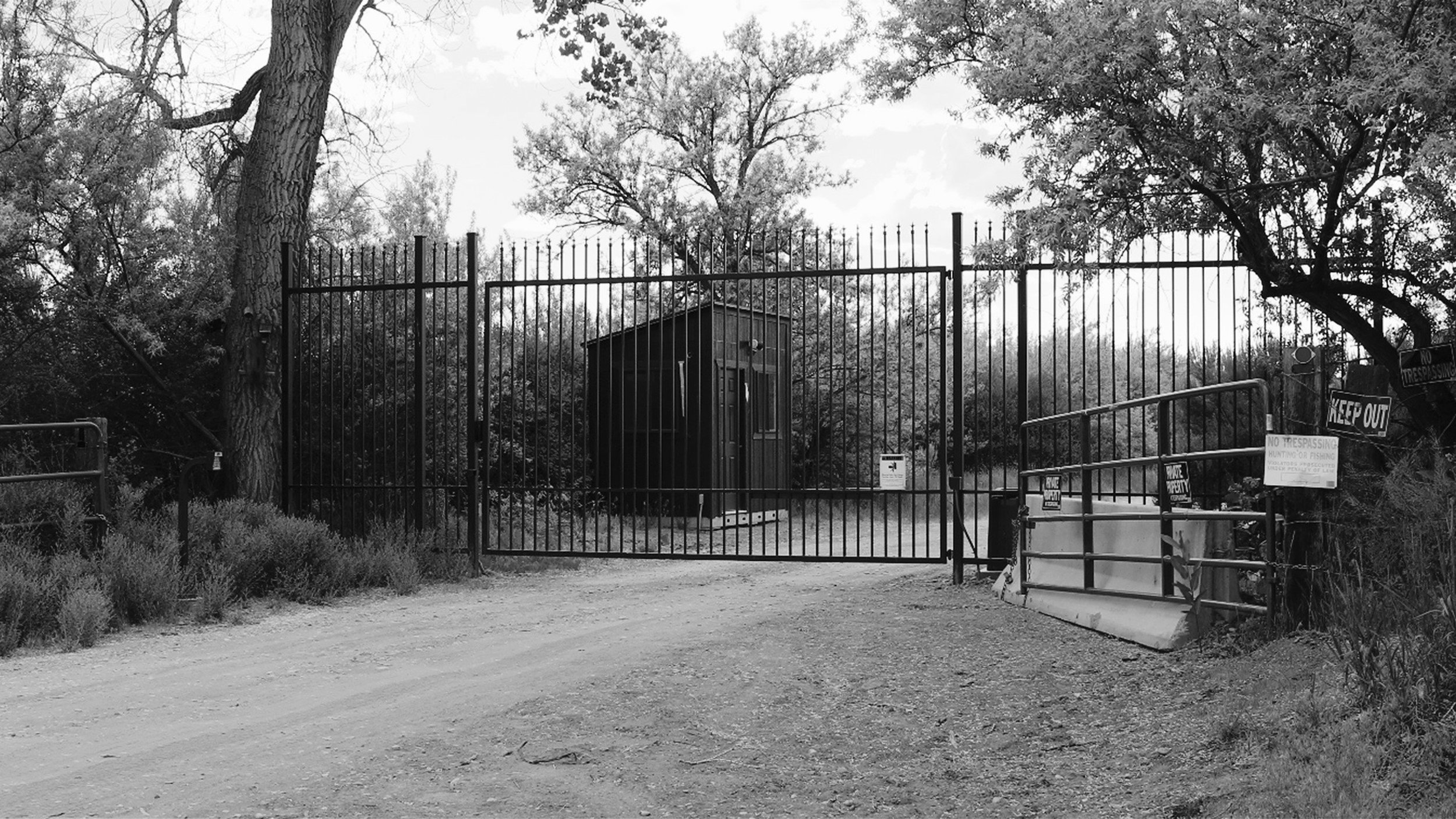 The new gate at Skinwalker Ranch