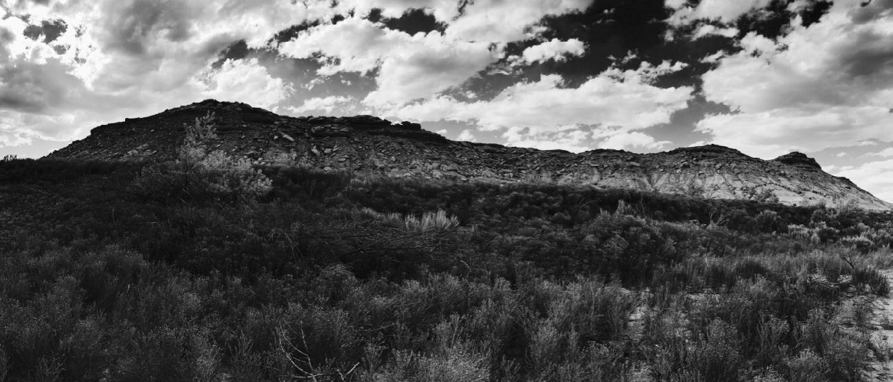Skinwalker Ridge, as seen from Skinwalker Ranch