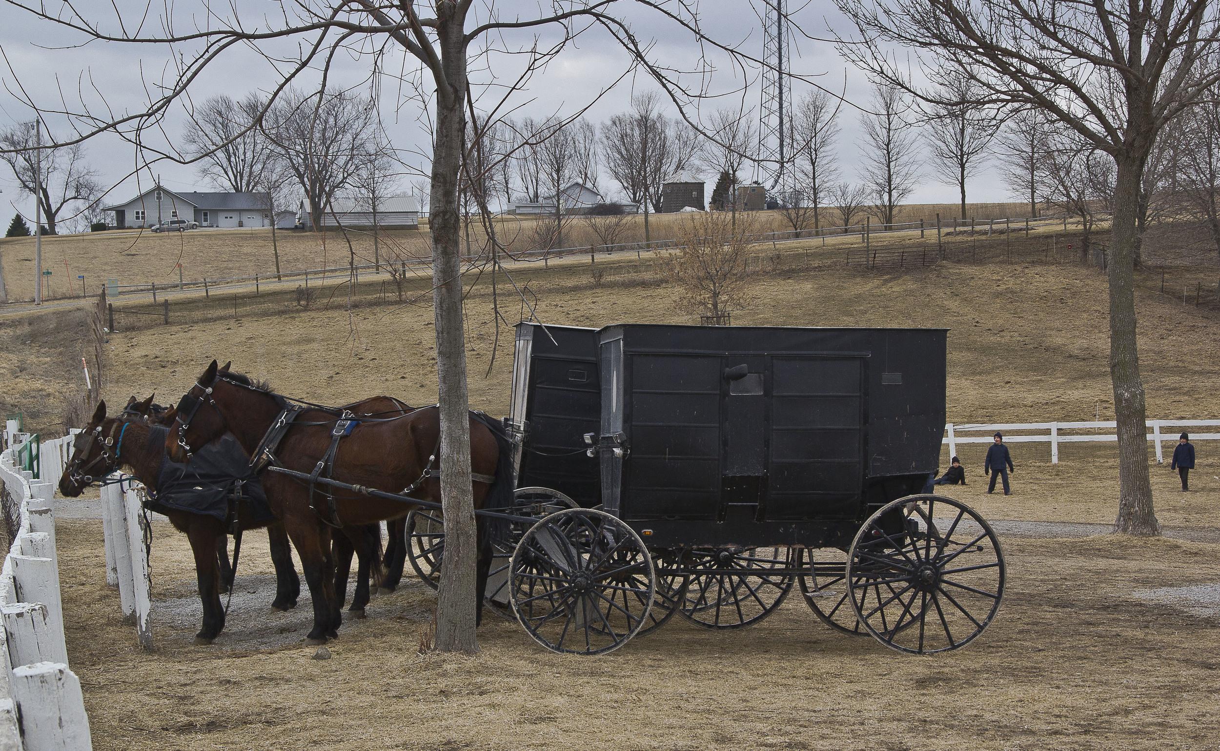 School´s Parking Zone,  Kalona, Iowa
