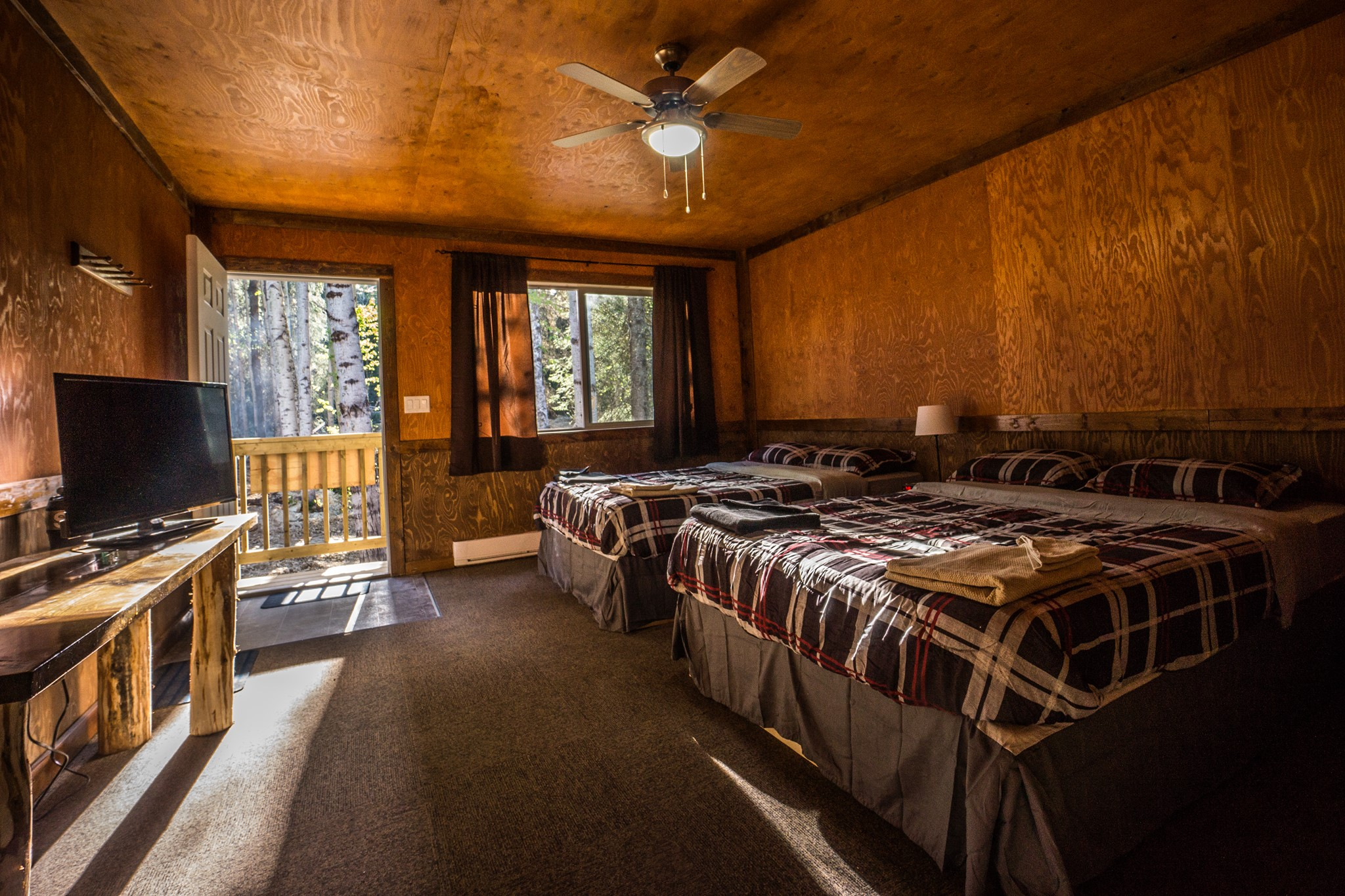 Interior of one of the cabins