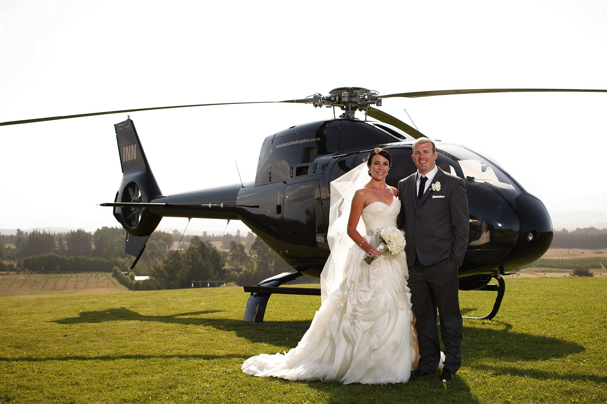 Helicopters for weddings & proposals