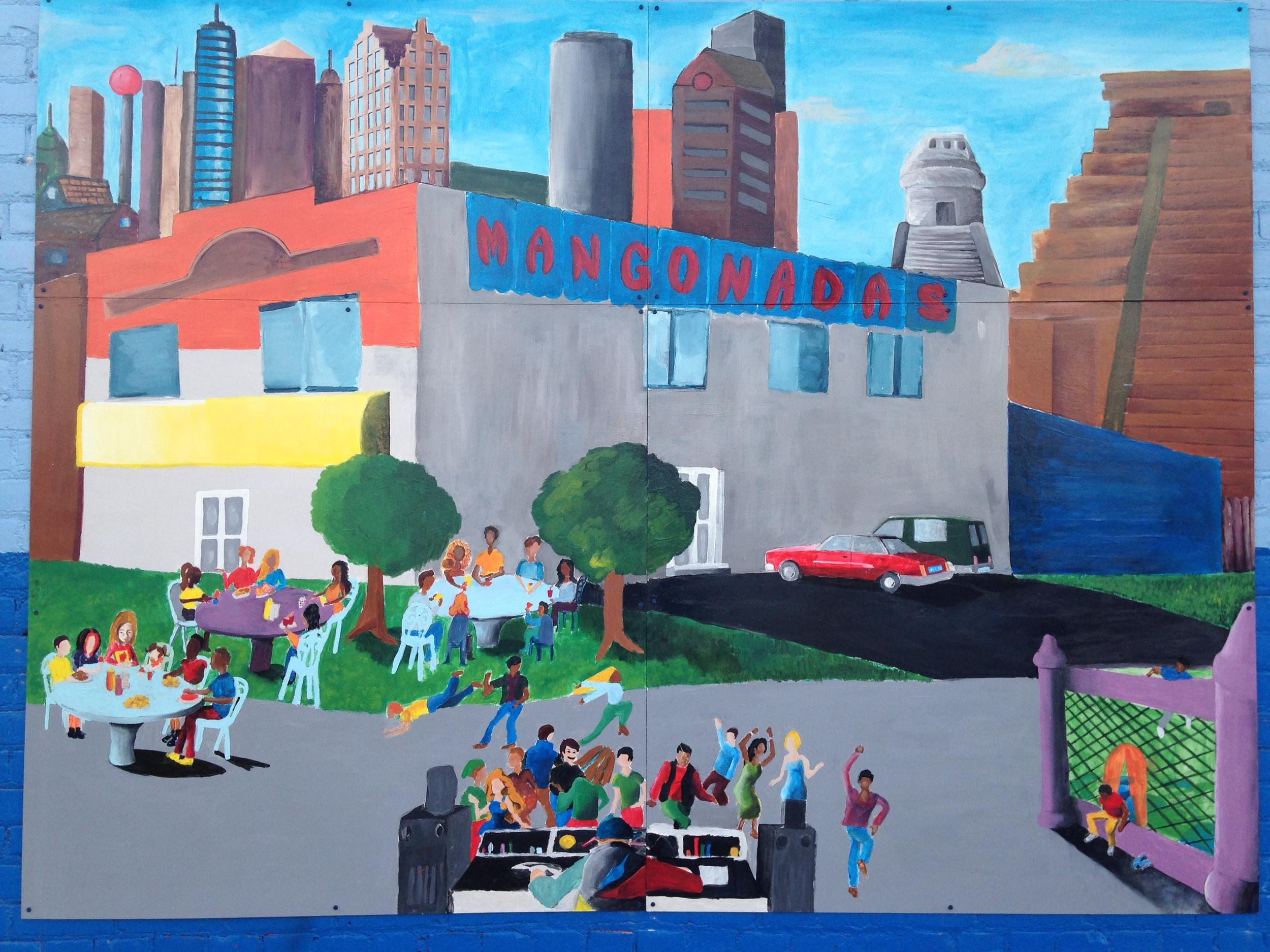 Mural on Mangonadas Ice Cream Shop Spring 2013