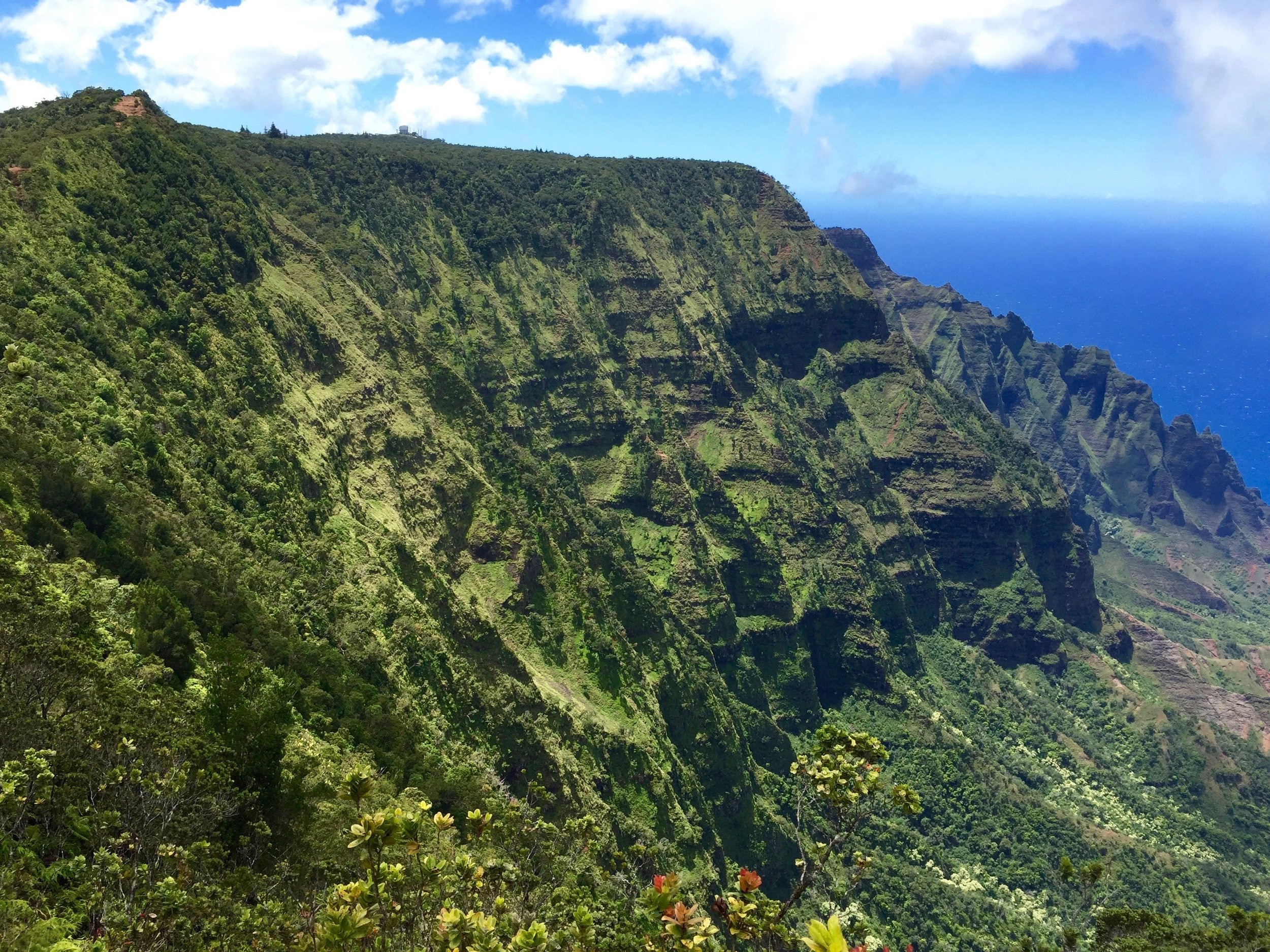 Better views of the Kalalau Valley at the end of the hike once the clouds cleared.