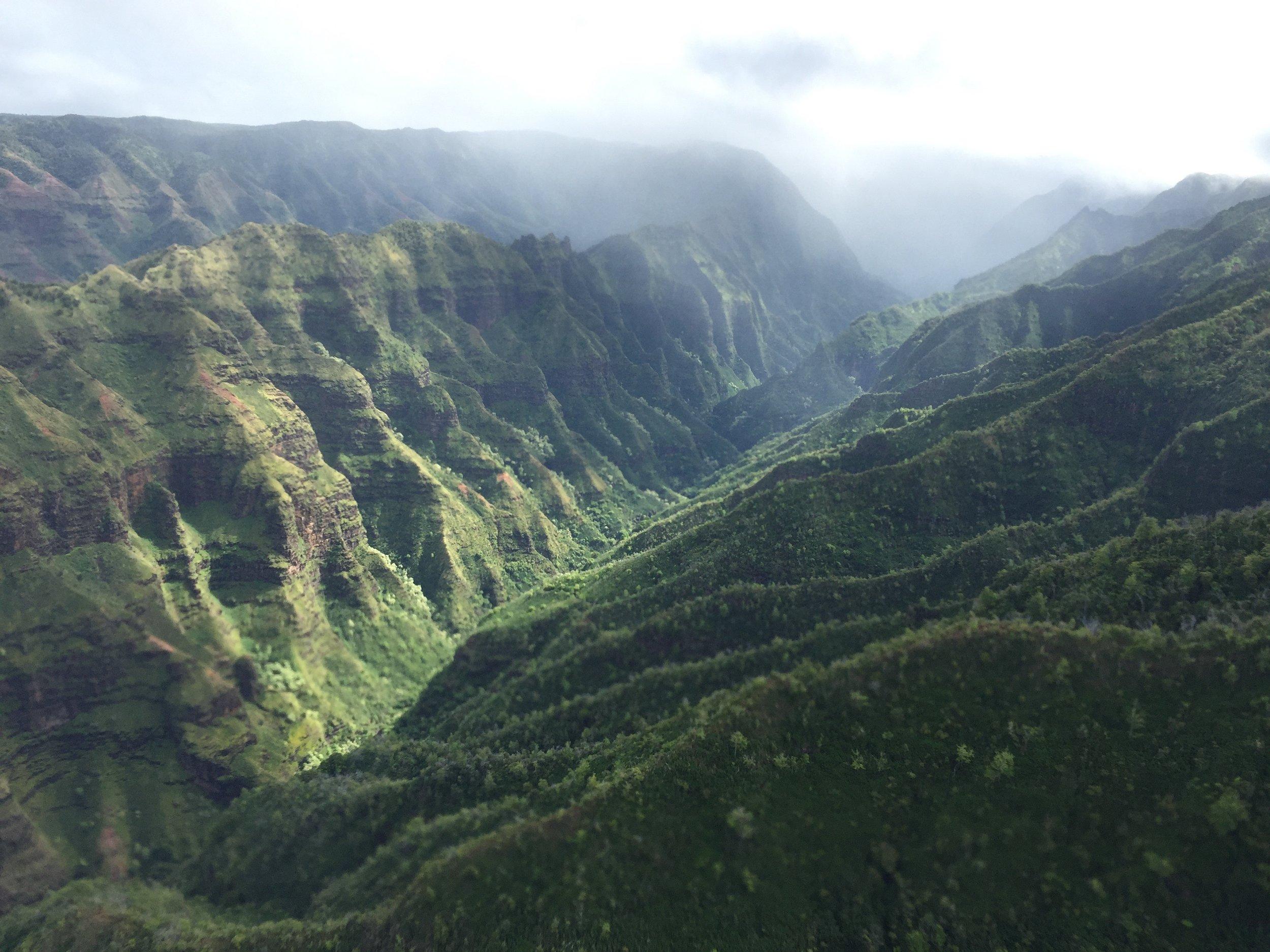 Kauai from above.
