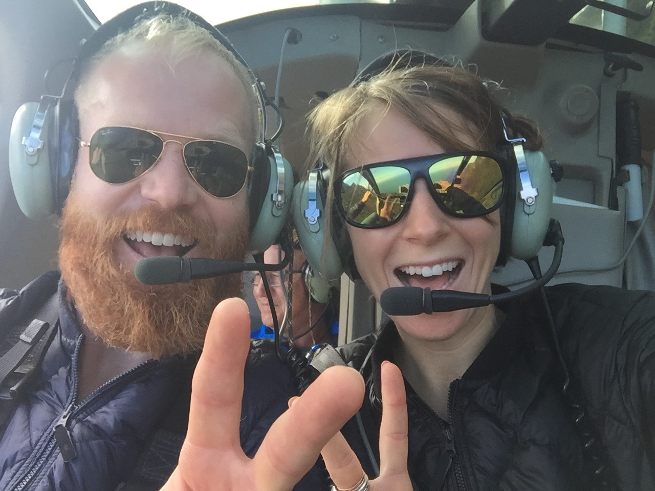 Fun times in the helicopter!