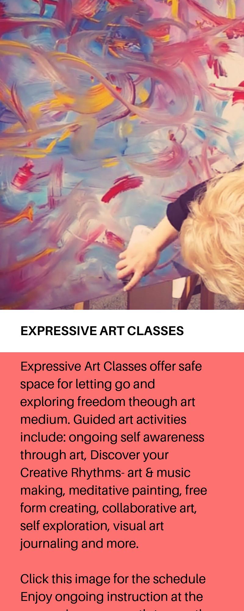 Part of our CREATIVE RHYTHMS - Expressive Arts & Rhythm programs