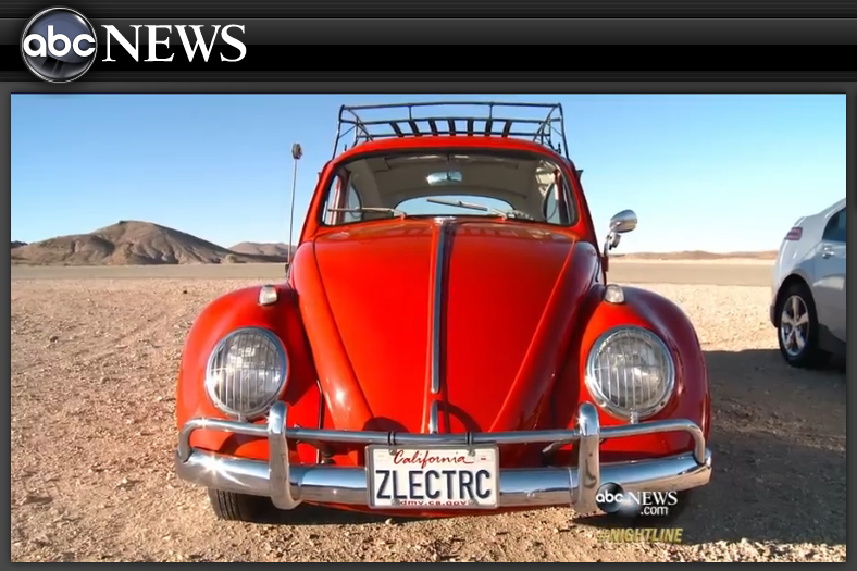 In 2014–back when EVs were still considered a novelty–  ABC News Nightline  showcased Zelectric on the track at Willow Springs International Raceway - running the infamous Horse Thief Mile with a Tesla S, Chevy Volt and Nissan Leaf.