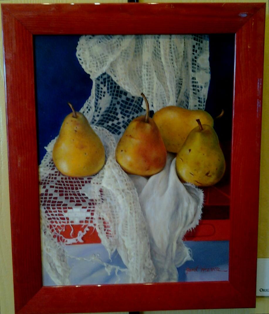 """BoHo Pears No. 2"" original oil by Janet Weaver - $575 (13.5"" x 17"")"
