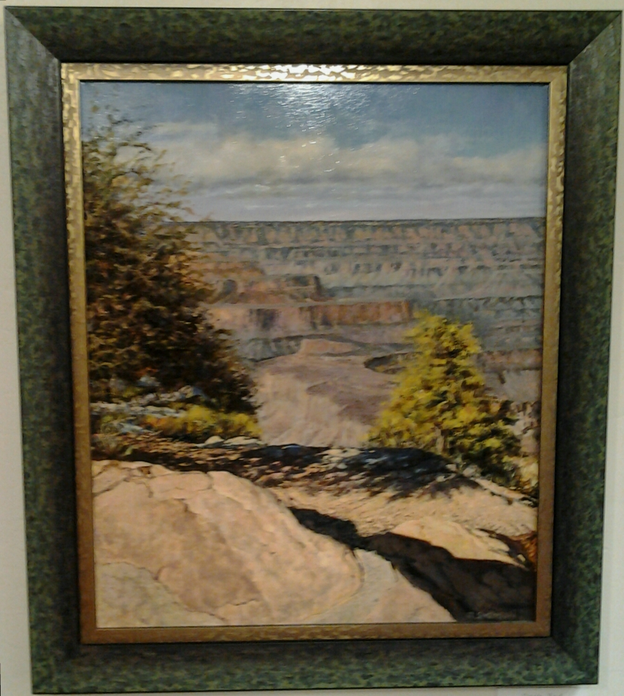 """""""Day's End"""" original oil by Roy Swenson- $2,300 (25"""" x 29"""")"""