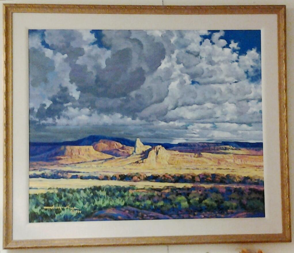 """Big Sky"" original oil by Alberto Vela"