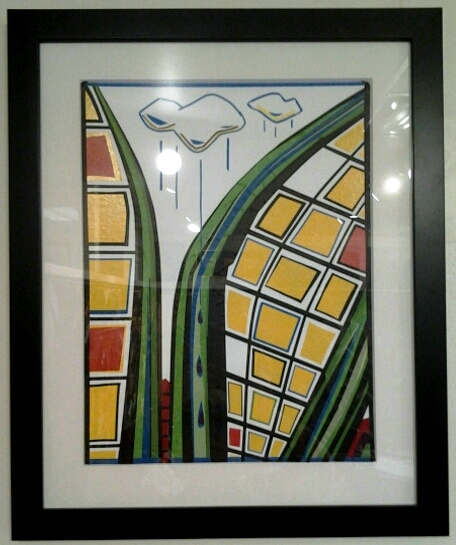 "Original masking tape art by Beth Detwiler - $375 (18 x 22"")"