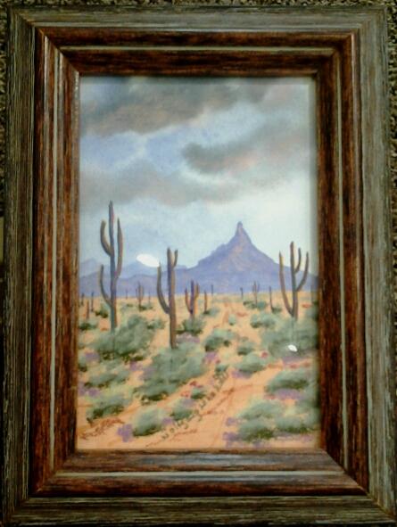 """""""Pinnacle Peak"""" original watercolor by Wolfgang Lehnhardt - $70 (6"""" x 8"""")"""
