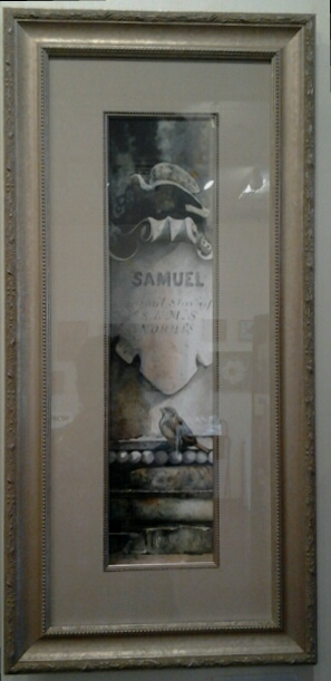 """Samuel"" original watercolor by Adele Earnshaw - $600 (15"" x 31"")"