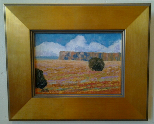 """Desert Cliffs"" original oil by Ramona Stites - $195 (11"" x 9"")"