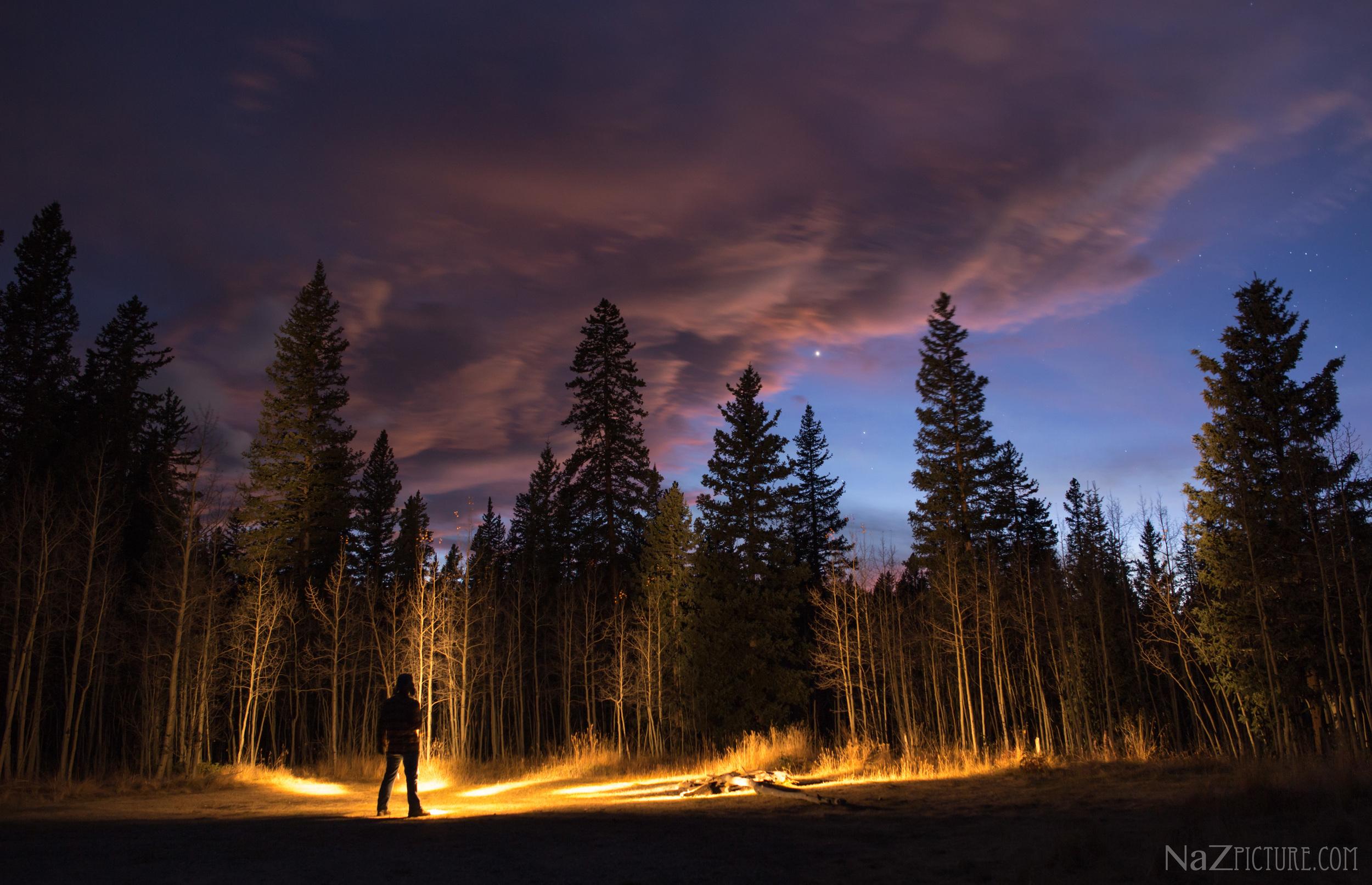 Last remaining light slips away at Kenosha Pass, Colorado