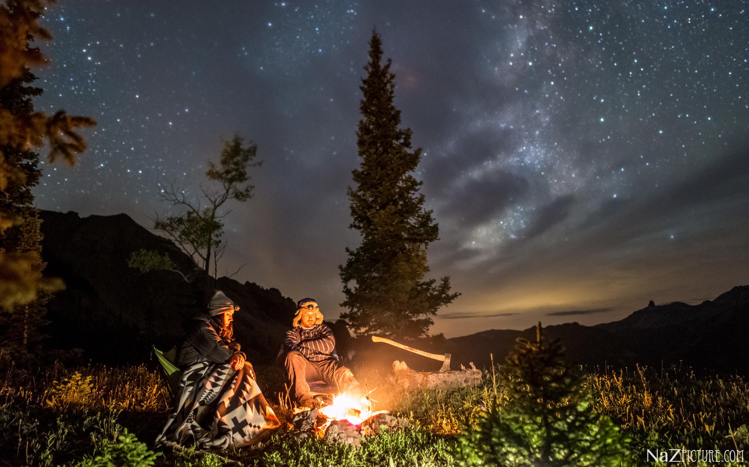 Dispersed camping near Alta Lakes. Telluride, Colorado.