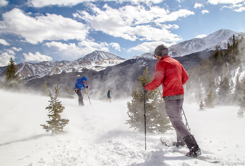 Snowshoeing Watrous Gulch, Colorado.