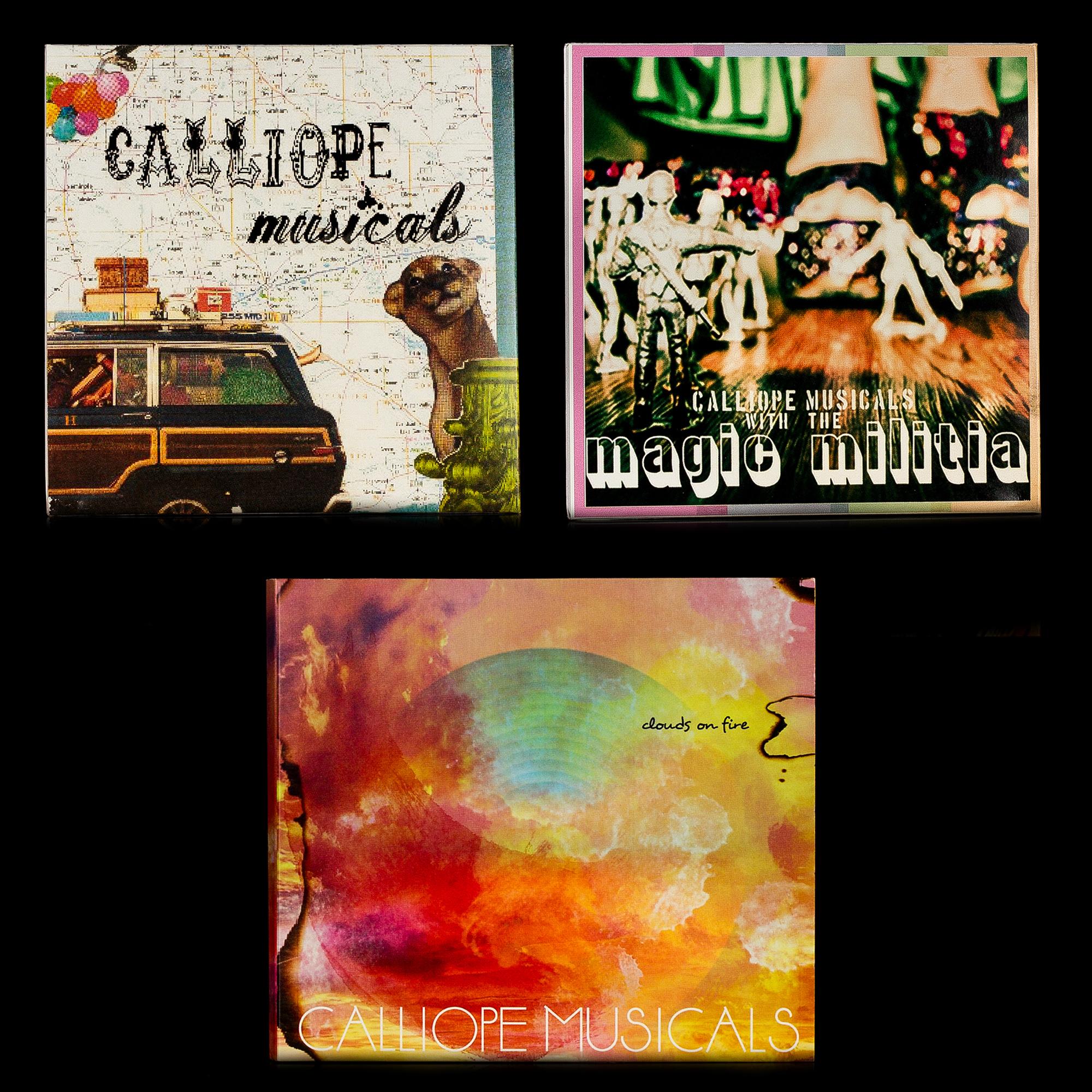 3 CD Bundle! (Clouds on Fire, Magic Militia & Calliope Musicals EP) - $15