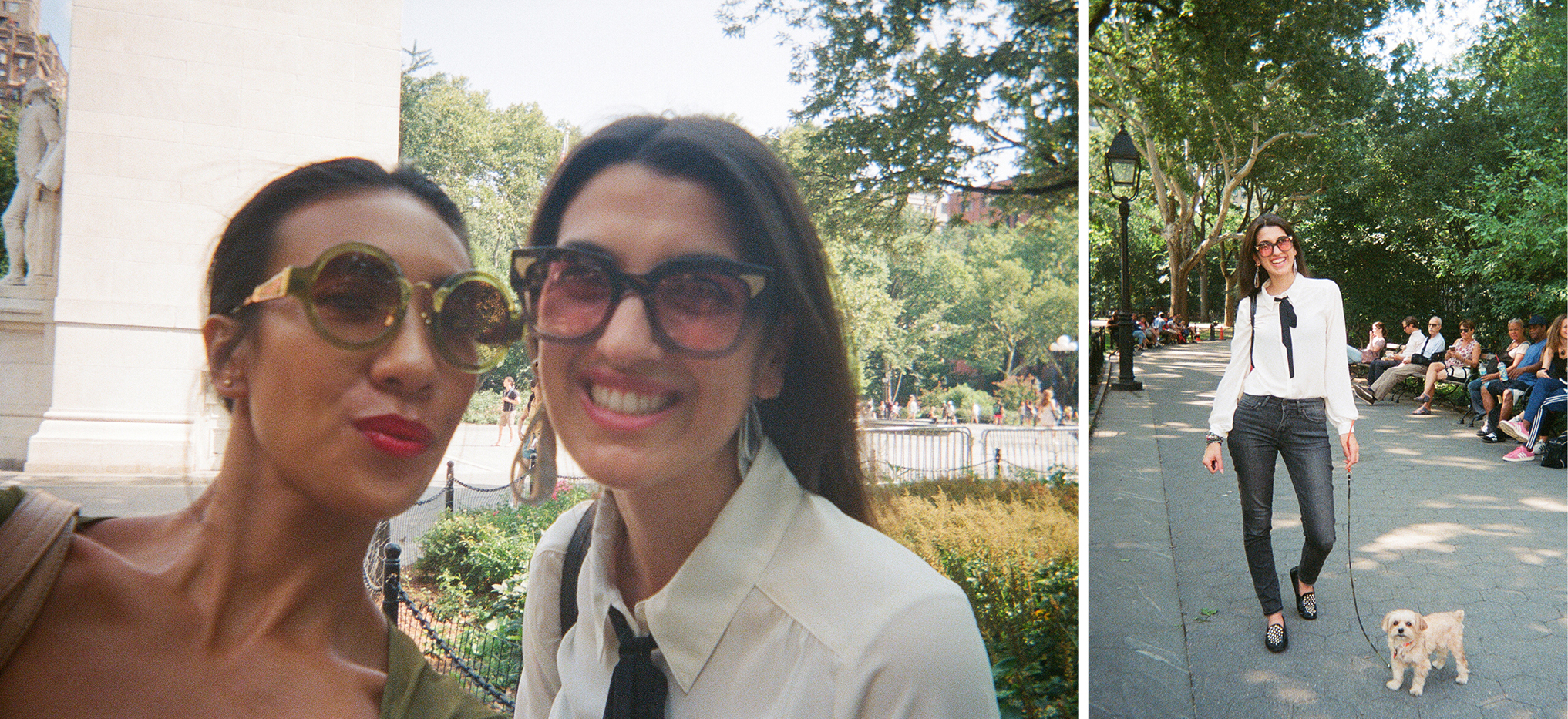 Impromptu stroll in Washington Square Park with Manuela and Ninja. I love when friends work in the neighborhood.