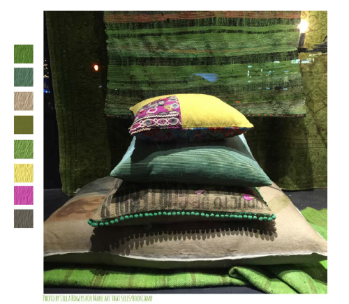 This is the color palette Lilla gave us which was inspired by a window display in New York.