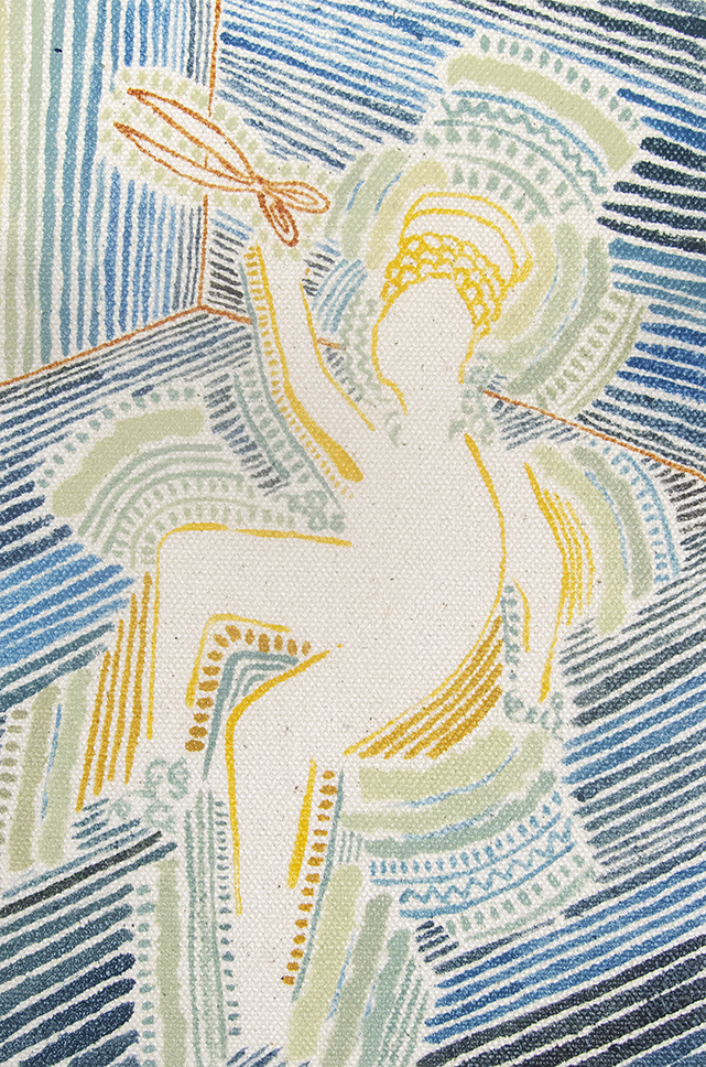 "Christopher Jewitt, ""Scissors"", 2014, Oil on rabbit skin glue on canvas."