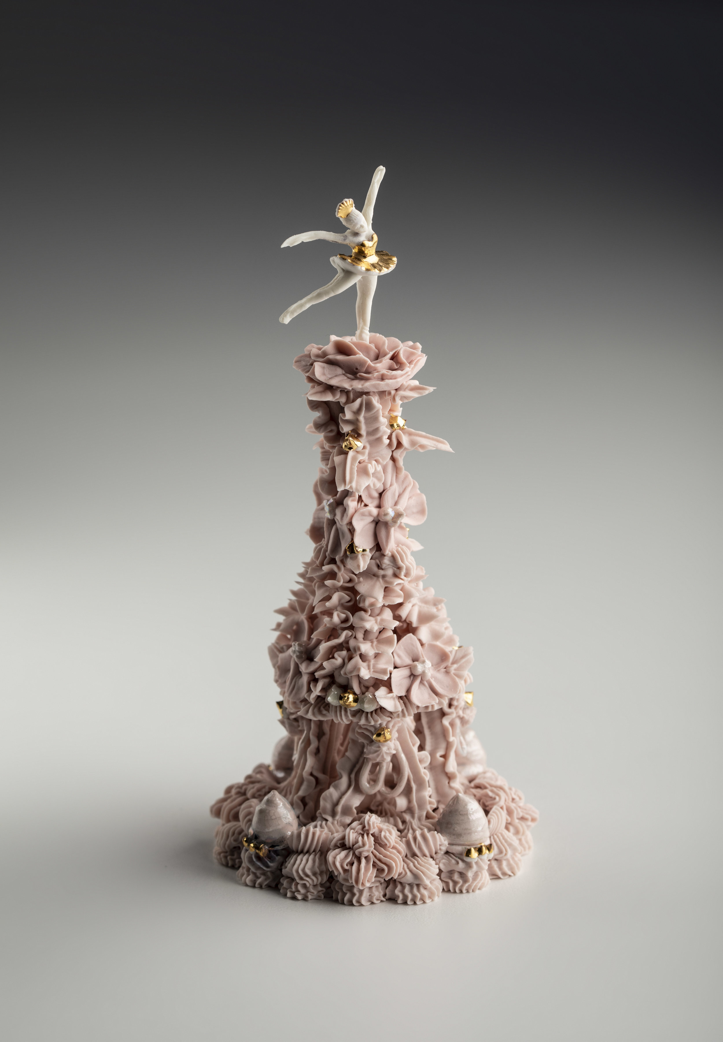 Ebony Russell, Ballerina Figure, 2019. porcelain, lustre. Photo credit Karl   Schwerdtfeger