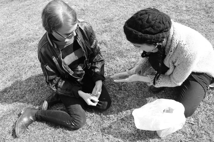 OFRENDA RITUAL (OFFERING RITUAL)  2013.Participatory performance. Ritualistic intervention.  View of Ofrenda Ritual at TheWassaic Project, Wassaic, NY – Wassaic Artists Residency program, March 2013