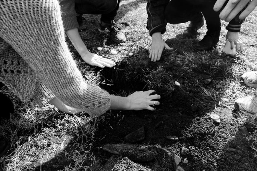OFRENDA RITUAL (OFFERING RITUAL)  2013.Participatory performance. Ritualistic intervention.View of Ofrenda Ritual at TheWassaic Project, Wassaic, NY – Wassaic Artists Residency program, March 2013